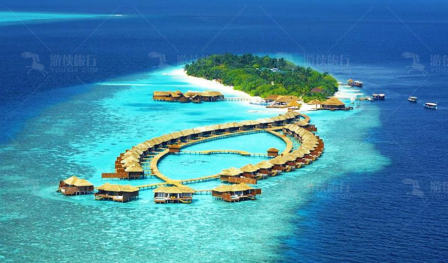 马尔代夫莉莉岛Lily Beach Resort6天4晚自由行 一价全包、浮潜装备免费租借、中文服务、水飞上岛