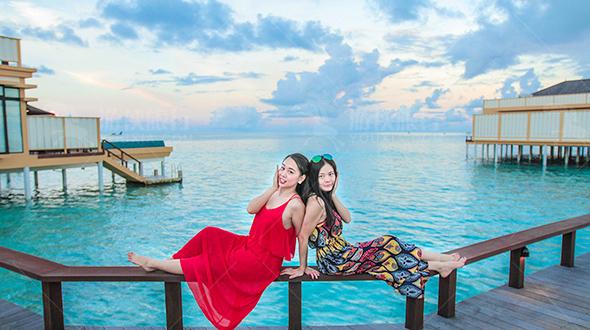 游侠特派美女 玩转马尔代夫海龟岛