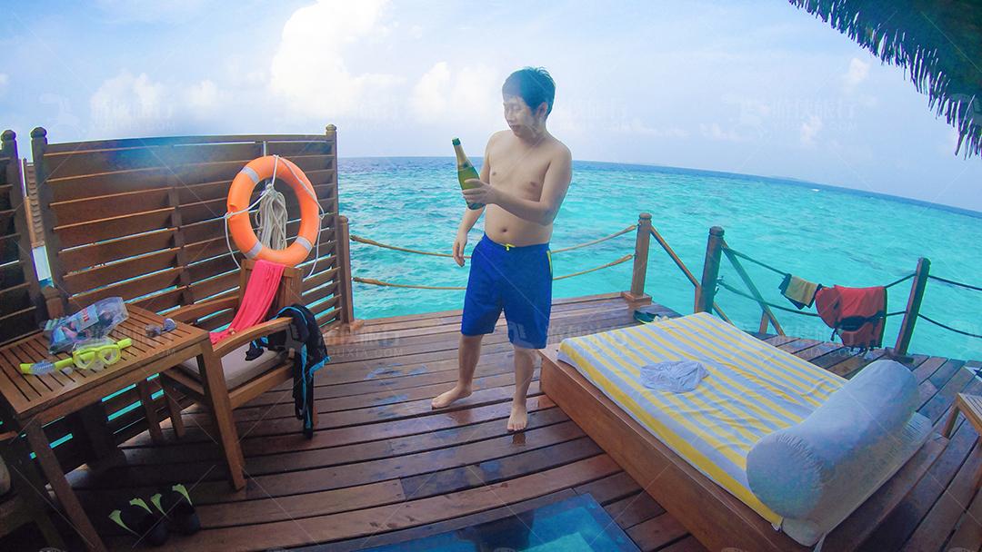 马尔代夫蜜都帕茹岛房间阳台