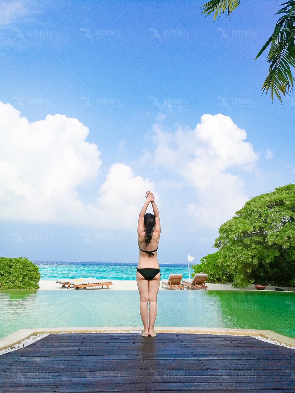 马尔代夫蜜都帕茹岛无边泳池