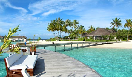 马尔代夫中央格兰德Centara Grand Island Resort&Spa6天4晚自由行(非常适合带小孩的家庭度假、一价全包岛屿、有中文GO、儿童乐园、浮潜很好)